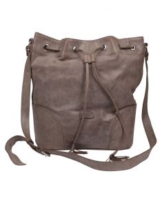 Jl Collections Women's Leather Grey Backpack