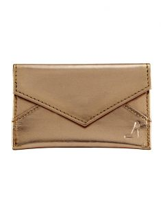 Wallets (Women's) - JL Collections Women's Gold Polyurethane (PU) Credit Card Holder