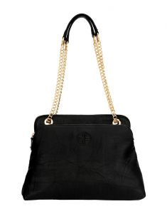 Jl Collections Womens Leather Black Shoulder Bag (code - Jlfb_3440)