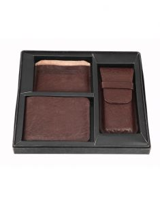 Jl Collections 8 Card Slots Brown Men