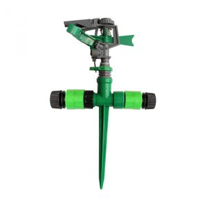 "AquaHose Gardening Water Sprinkler 3 Arms Rotating Type For  1/2"" (12.5mm) Bore Size Hose With 2 Hose Connectors & 1 Through Adapter"