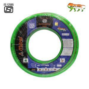 "Mitras Multipurpose Hose 3/4"" (20mm ID) - 50 Ft (15 Mtr) - ISI Marked 3 Layered Green Hose Pipe"