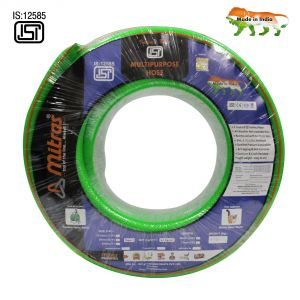 """Mitras Multipurpose Hose 3/4"""" (20mm ID) - 100 Ft (30 Mtr) - ISI Marked 3 Layered Green Hose Pipe"""