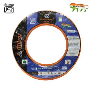 "Mitras Multipurpose Hose 1/2"" (12.5mm ID) - 50 Ft (15 Mtr) - ISI Marked 3 Layered Orange Hose Pipe"