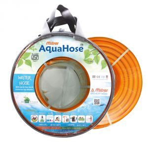 "AquaHose Water Hose (20mm ID) (3/4"") - 50 Ft. (15 Mtr) ISI Marked Orange Hose Pipe"