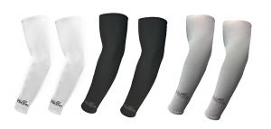 Hi Cool Arm Sleeves For UV Sun Protection And Sports(White, Black, Grey) - 3 Pairs