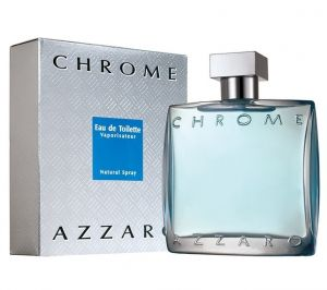 Azzaro Chrome Eau De Toilette For Men 100ml /3.4oz ( Sealed Packed With Boxed )