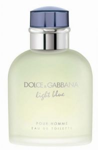 DOLCE & GABBANA LIGHT BLUE Eau De Toilette For Men 50 Ml / 1.7 Oz ( Unboxed )