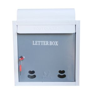Lamba's PGMS-02GW S (NP) Wall Mounted Mailbox In Grey And White