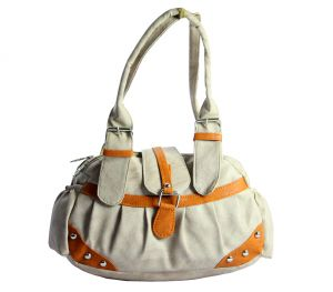SPERO Women's Stylish Zip Lock Casual Off White Handbag (Code - 34 Hb)