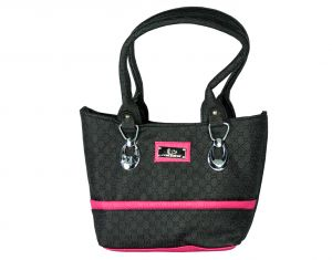 SPERO Women's Stylish Zip Lock Casual Black N Pink Handbag (Code - 41 Hb)