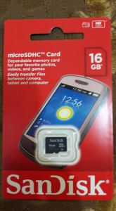 Motorola,Zen,Quantum,Sandisk,Panasonic,Vu Mobile Phones, Tablets - SanDisk 16GB Class 4 micro SDHC Memory Card