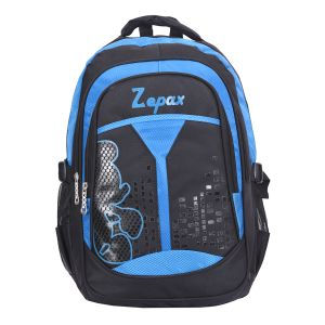 Black And Blue Flashy School Bag