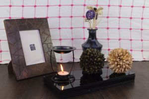 Hosley Highly Scented Oil Warmer Gift Set -with Free 10 ML Lavender Fields Highly & 4 Unscented TealightsFragranced Oil