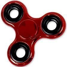 Shiny Red Metallic Color Fidget Tri-spinner Edc Bearing Adhd Focus Stress Reliever Hand Toys