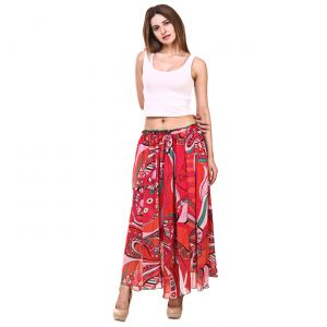 Hive91 Printed Women's Flared Multicolor Skirt (Code - RH21SKMC)