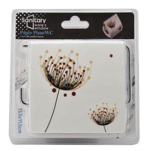 Sanitary Ware's Window Tet Tissue Paper Roll Holder - 2 Floral Print