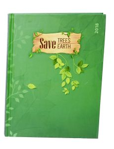 Indigo Creatives Save The Earth Recycled Paper 2018 Business Executive Diary Organiser Planner