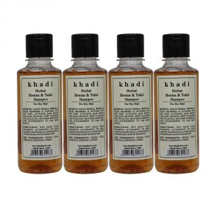 Khadi Pure Herbal Henna & Tulsi With Extra Conditioning Shampoo-210ml (Set Of 4)