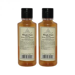 Khadi Pure Herbal Henna & Tulsi With Extra Conditioning Shampoo - 210ml (Set Of 2)