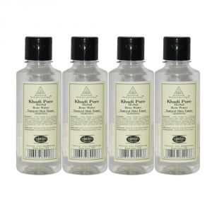 Skin Care - Khadi Pure Herbal Rose Water - 210ml (Set of 4)