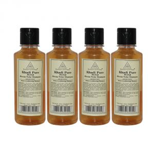 Khadi Pure Herbal Henna & Tulsi With Extra Conditioning Shampoo - 210ml (Set Of 4)