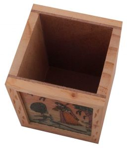 Arts Of India Beige Wooded Pen Stand (Code - SEPSS2P)