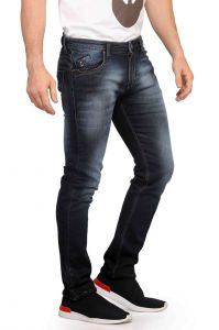 Jeans (Men's) - Mr. Stag Men's Dark Blue Denim Jeans (Code - JEANS NJ003)
