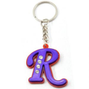 Alphabet R With Attractive Diamonds Key Chain (Available Color)