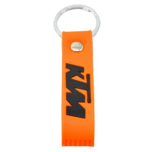 Faynci Orange KTM Inspired Double Sided Silicon  Car Keychain