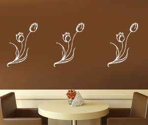 "Wall stickers & decals - Kayra Decor ""Lily Flowers"" reusable Wall Stencil in (16"" X 24"") inches Plastic Sheet"