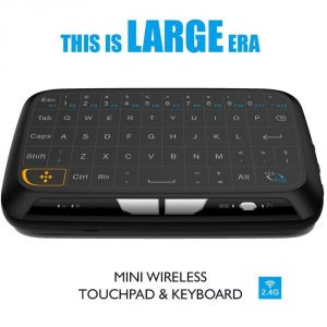 Un-tech H18 Touchpad Mini Keyboard Mouse Remote Combos 2.4ghz Rechargeable Full Screen Extra Large Touch Zone