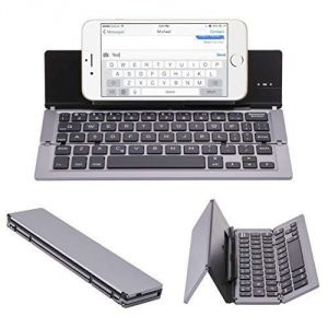 Computer Parts - UnTech Foldable Wireless Bluetooth Keyboard with Kickstand F18 (Grey)