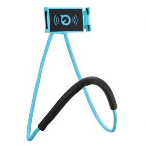 Gadgetbucket Lazy Bracket Phone Holder Rotating Smart Mobile Phone Mount Stand (Blue)