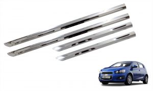 Trigcars Chevrolet Aveo Car Steel Chrome Side Beading