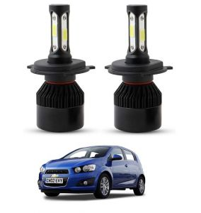 Car Accessories - Trigcars Chevrolet Aveo LED Headlight Nighteye Light Set Of 2