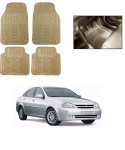 Car Accessories - Trigcars cream rubber floor mat for Chevrolet Optra Old