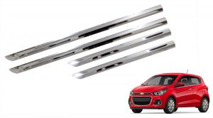Trigcars Chevrolet Spark Car Steel Chrome Side Beading
