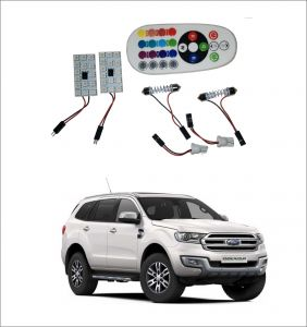 Trigcars Ford Endeavour New 2 X 16 Colors Rgb Bright 5050 LED Car Roof Dome Light Festoon T10 IR Remote