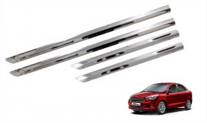 Side beading for cars - Trigcars Ford Figo Aspire Car Steel Chrome Side Beading