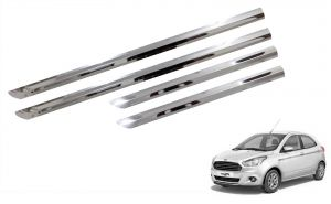 Side beading for cars - Trigcars Ford Figo New Car Steel Chrome Side Beading