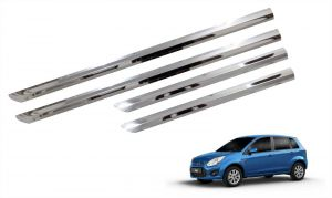 Car Accessories - Trigcars Ford Figo Old Car Steel Chrome Side Beading