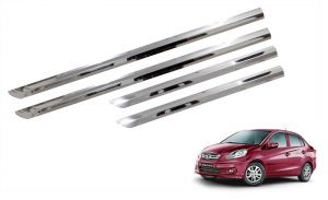 Car Accessories - Trigcars Honda Amaze Old Car Steel Chrome Side Beading