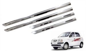 Trigcars Hyundai Santro Xing Gls Car Steel Chrome Side Beading