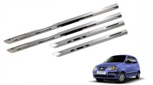 Side beading for cars - Trigcars Hyundai Santro Xing ERLX Car Steel Chrome Side Beading