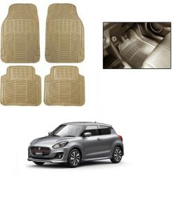 Trigcars Cream Rubber Floor Mat For Maruti Suzuki Swift 2017