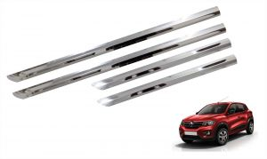Side beading for cars - Trigcars Renault Kwid Car Steel Chrome Side Beading