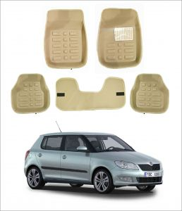 Car Accessories - Trigcars Car Carpet Cream Car Floor/Foot Mats for skoda fabia