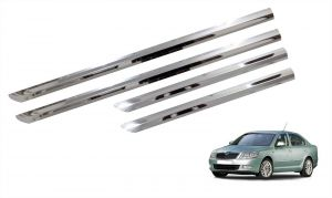 Car Accessories - Trigcars Skoda Laura Car Steel Chrome Side Beading