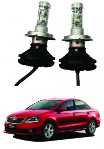 Trigcars Skoda Rapid 2018 Car Glass LED Head Light
